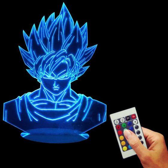 Dragon Ball Z Super Saiyan Son Goku Color Changing Table Acrylic Panel Lamp - Saiyan Stuff - 4