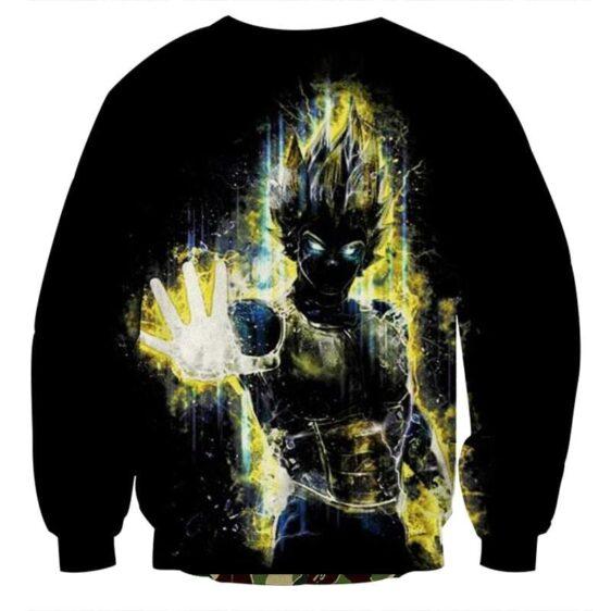 Dragon Ball Z Super Saiyan Vegeta Yellow Aura Epic Sweatshirt