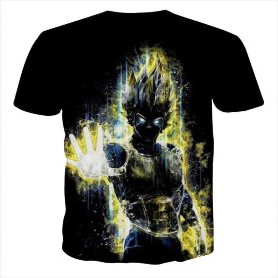 Dragon Ball Z Super Saiyan Vegeta Yellow Aura Epic T-Shirt