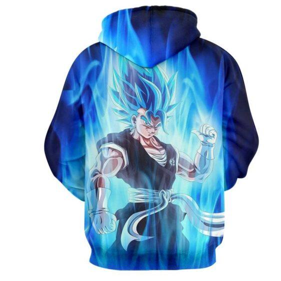 Dragon Ball Z Super Saiyan Vegito Blue Charge Aura Hoodies