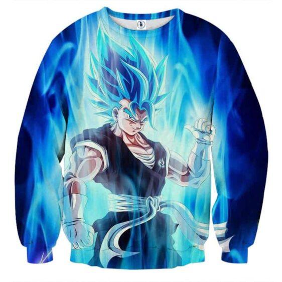 Dragon Ball Z Super Saiyan Vegito Blue Charge Aura Sweatshirt