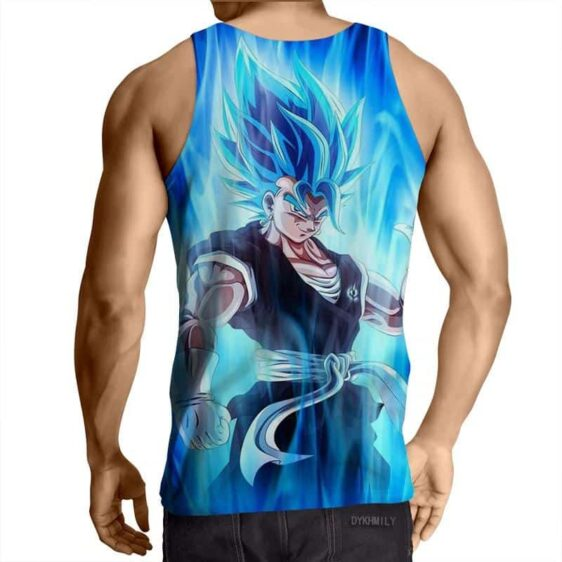 Dragon Ball Z Super Saiyan Vegito Blue Charge Aura Tank Top