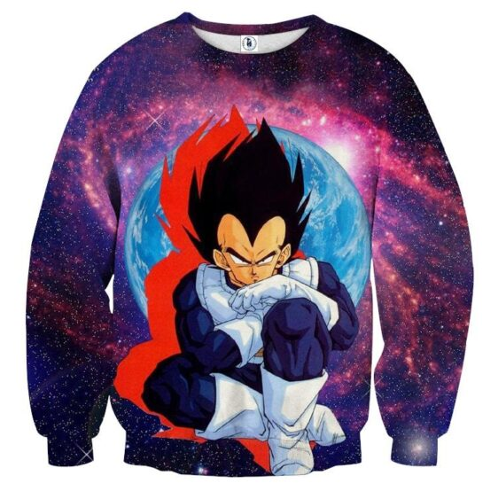 Dragon Ball Z Vegeta Classic Sit Pose Pissed Dope Sweatshirt