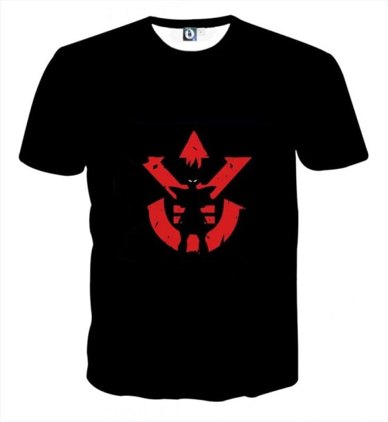 Dragon Ball Z Vegeta Shadow Cool Red Vegeta Symbol T-Shirt