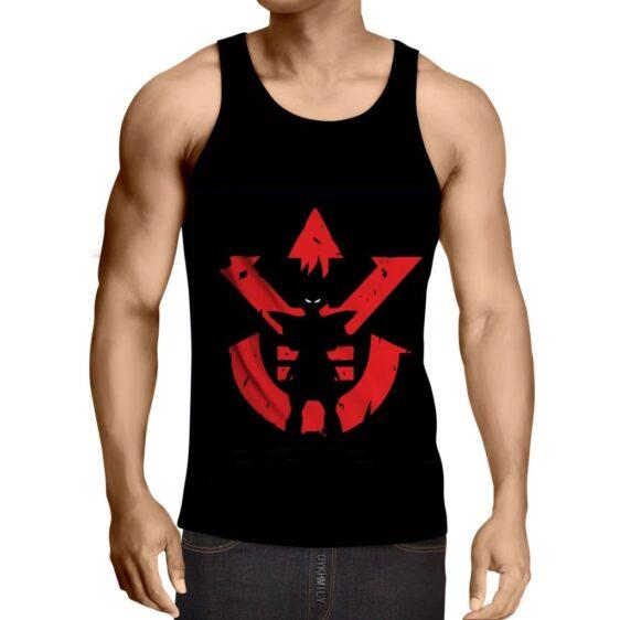 Dragon Ball Z Vegeta Shadow Cool Red Vegeta Symbol Tank Top