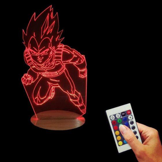 Dragon Ball Z Vegeta Super Saiyan Battle Attack 7 Color Changing Acrylic Panel Lamp - Saiyan Stuff - 3