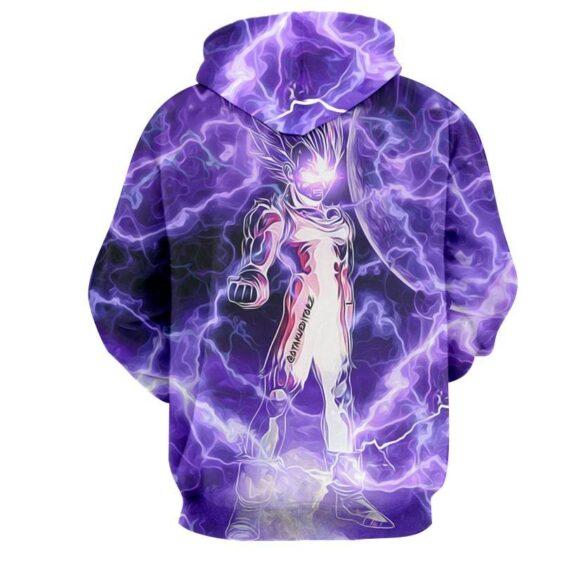 Dragon Ball Z Vegeta Super Saiyan Cool Lightning Aura Hoodie