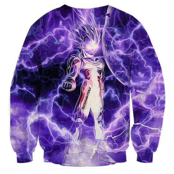 Dragon Ball Z Vegeta Super Saiyan Cool Lightning Aura Sweater