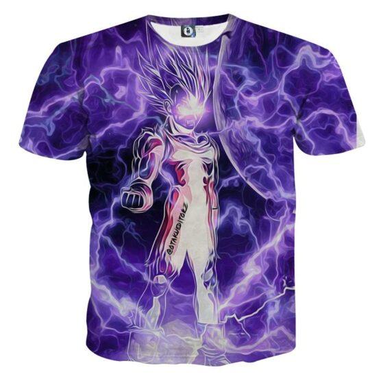 Dragon Ball Z Vegeta Super Saiyan Cool Lightning Aura T-Shirt
