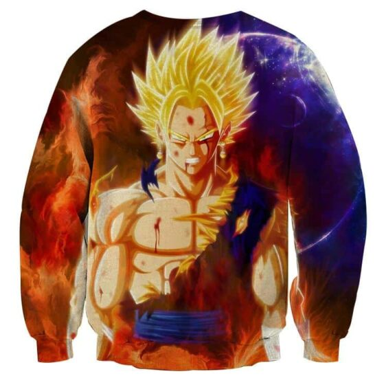 Dragon Ball Z Vegito Super Saiyan Angry Bruised Sweatshirt