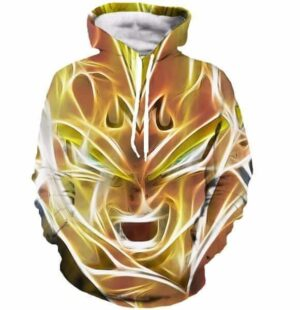 Dragon Ball Z - Super Saiyan Majin Vegeta 3D Cool Hooded Sweatshirt - Saiyan Stuff