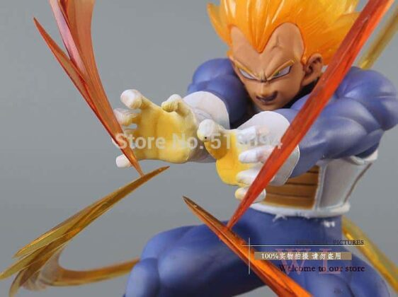 Dragon Ball Z - Super Saiyan Vegeta Action Figure 15cm Battle Edition - Saiyan Stuff
