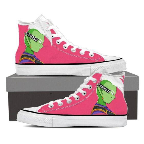 Dragon Ball Zamasu Powerful Serious Cool Pink Sneaker Shoes