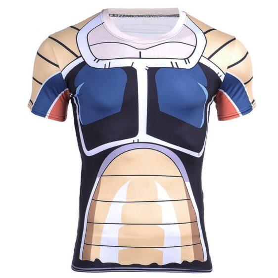 Elite Saiyan Warrior Nappa Battle Armor Cosplay 3D Compression T-shirt