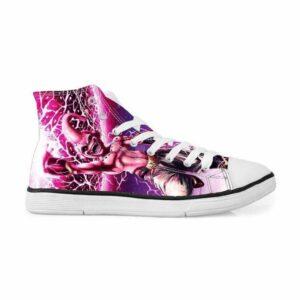 Evil Kid Majin Buu Villain Killer Design Pink Sneakers Converse Shoes