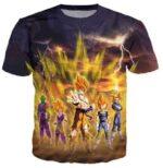 Frieza Super Saiyan Aura Goku Vegeta Gohan Trunks Piccolo T-Shirt - Saiyan Stuff