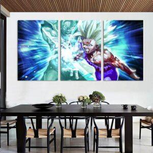 Goku And Gohan Super Saiyan Blue Kamehameha Wave 3pcs Canvas