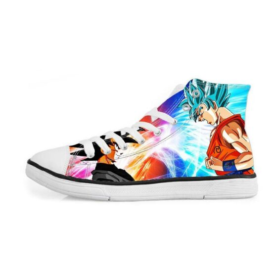 Goku Black Versus Super Saiyan Blue Goku Sneakers Converse Shoes