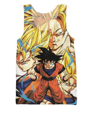 Goku Forms Super Saiyan Transformation 3D Tank Top - Saiyan Stuff