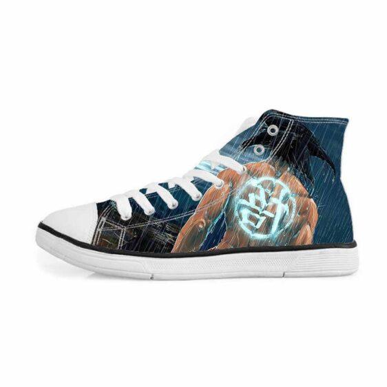 Goku Go Symbol Kanji Under the Rain Cool Sneakers Converse Shoes