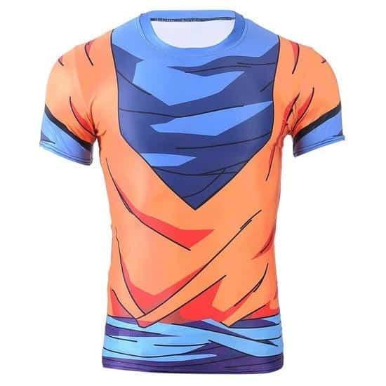 Goku Simple Costume Orange 3D Compression Fitness T-Shirt