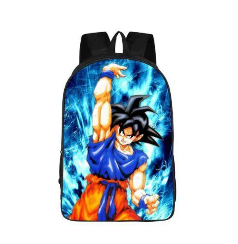 Goku Spirit Bomb Skill Power Aura School Backpack Bag