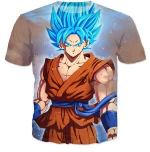 Goku Super Saiyan Blue Stylish DBZ T-Shirt - Saiyan Stuff