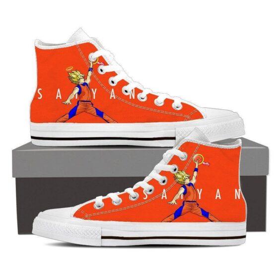 Goku Super Saiyan Slam Dunk Jordan Converse Style Sneaker Shoes
