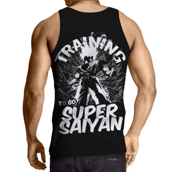 Goku Training Super Saiyan Dragon Ball Theme Design Tank Top