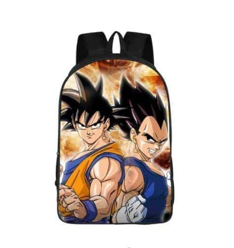 Goku Vegeta Fusion Earrings Cool Style School Backpack Bag