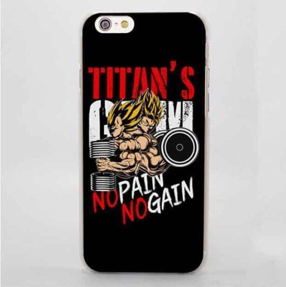 Goku & Vegeta No Pain No Gain Train iPhone 4 5 6 7 Plus Case