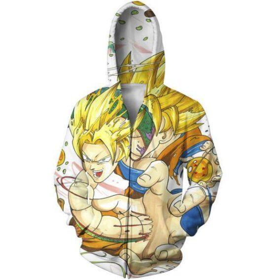 Goku and Shenron Dragon Ball Dope Zip Up Hoodie - Saiyan Stuff