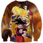 Goku's Super Saiyan SSJ4 Warrior Transformation Nerd 3D Sweatshirt - Saiyan Stuff