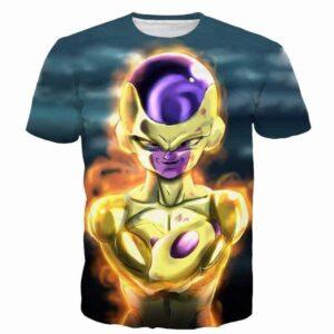 Golden Frieza Goruden Furiza Ultimate Evolution 3D T-Shirt - Saiyan Stuff