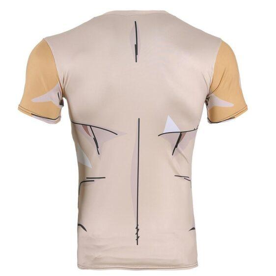 Golden Frieza Ultimate Evolution Biological Armor 3D Gym T-Shirt