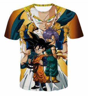 Goten Trunks Gotenks Super Saiyan 3D T-Shirt - Saiyan Stuff