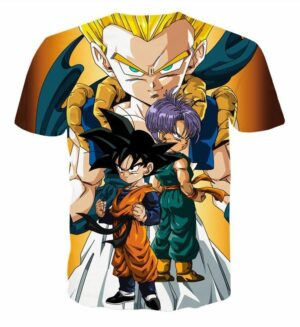 Goten Trunks Gotenks Super Saiyan 3D T-Shirt - Saiyan Stuff