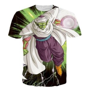 Green Z-Fighter Super Warrior Piccolo Dragon Ball T-Shirt - Saiyan Stuff