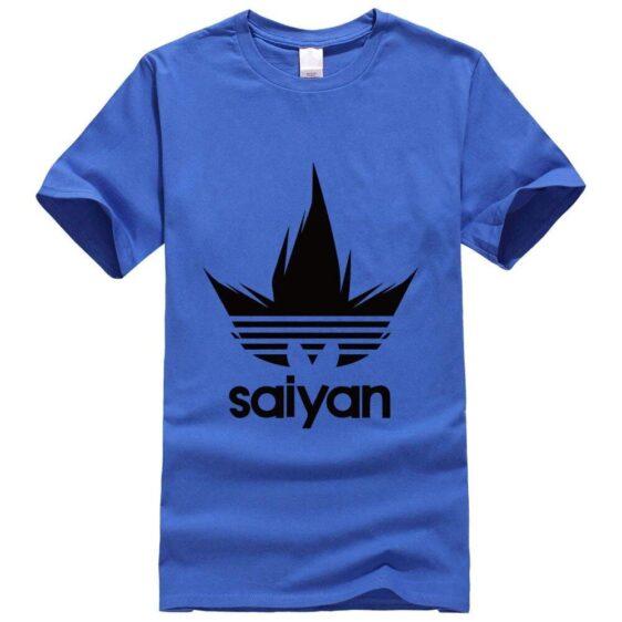 DBZ Black Saiyan Adidas Parody Print Dark Blue T-Shirt