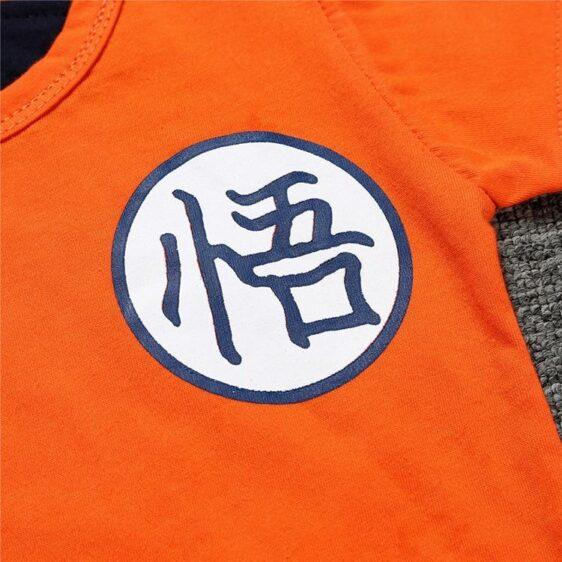 DBZ Short Sleeve Son Goku's Kanji Logo Cosplay Baby Romper