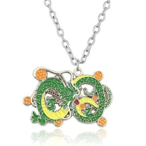 DBZ Shenron And Dragon Balls Pendant Green Necklace