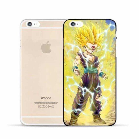 Dragon Ball Gohan Kid Super Saiyan Power Up Aura Fan Art Design Hard PC iPhone 5 6 7 s Plus Case
