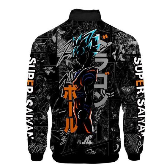 Dragon Ball Z Son Goku Livid Side View Image Varsity Jacket