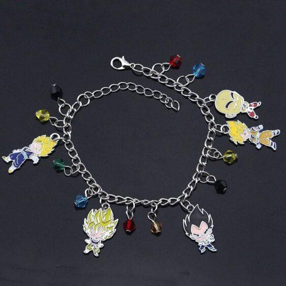 DBZ Mini Goku Gohan Krillin And Vegeta Charm Bracelet