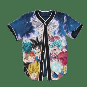 Goku & Son Gohan Super Saiyan Evolution Baseball Jersey
