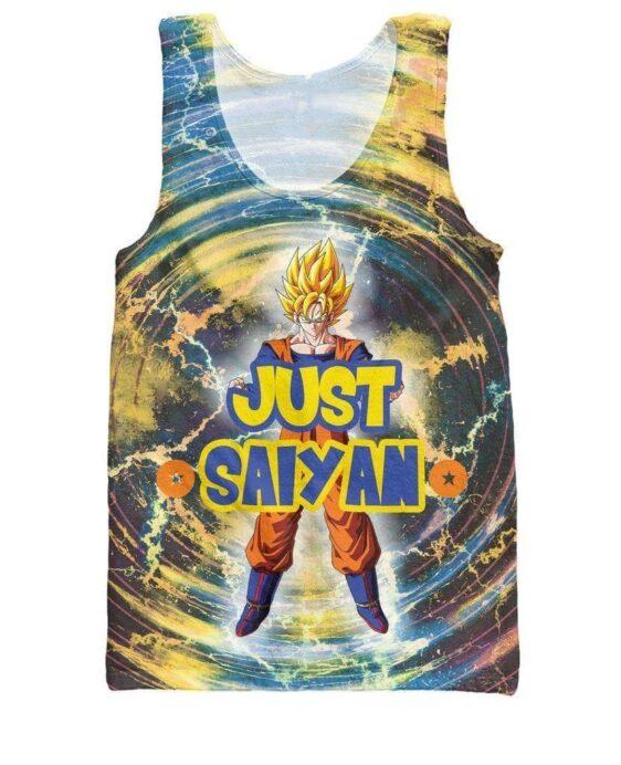 Just Saiyan Super Saiyan Goku Cool 3D Tank Top - Saiyan Stuff