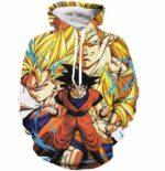 Kakarot Son Goku Forms Super Saiyan Transformation 3D Hoodie - Saiyan Stuff