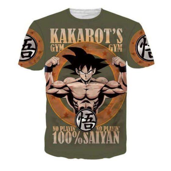 Kakarot's Gym 100% Saiyan Goku Funny T-Shirt - Saiyan Stuff