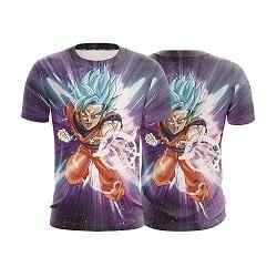 Dragon Ball Z Electrifying Goku Blue Hair God Form T-Shirt