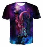 Kid Buu Spirit Ball Destruction Dark 3D Blue T-Shirt - Saiyan Stuff
